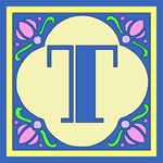 Art Nouveau Monogrammed Carryall Tote