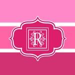 Monogrammed Pink Stripes Tote