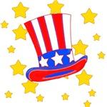 Uncle Sam's Patriotic Flag Hat
