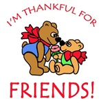 I'm Thankful for Friends Thanksgiving Tee