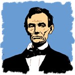Abraham Lincoln with Blue Background on Tees, Gift