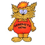 Stressed Out Cat in Serenity Now T shirt
