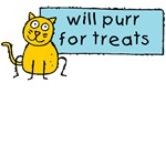 Will Purr for Treats Cute Cat Design