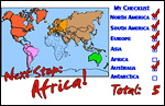 N & S America, Europe, Australia, Asia