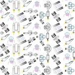 Rocket and Spaceship Pattern
