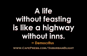 Democritus Life Without Feasting