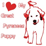 I Love My Great Pyrenees Puppy