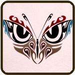 Butterfly Eyes Tattoo