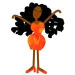 Diva in Orange Dress