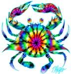 Tie Dye Crab