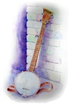 Banjo graphic with no text
