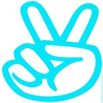 103. peace / victory sign (lite green)
