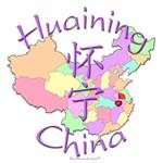Huaining China Color Map