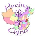 Huainan China Color Map