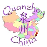 Quanzhou China Color Map