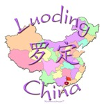 Luoding China Color Map