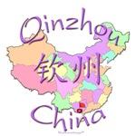 Qinzhou China Color Map