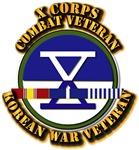 Army - X Corps w Korean Svc