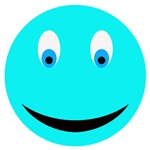 Light Blue Smiley Face