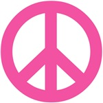 Hot Pink Peace Sign