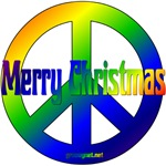 Merry Christmas Peace Sign