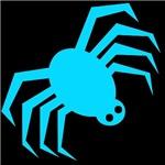 Groovy Blue Spider