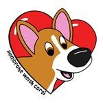 Cartoon Love Corgi