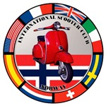 NORWAY VESPA SCOOTER FLAG T-SHIRTS & GIFT