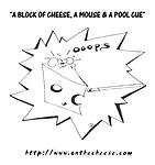Just A Little Cheesey Funny 9 Ball Billiards Cartoon