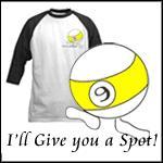 Billiard Handicap, Spot You Funny 9 Ball T-shirts