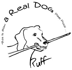 Real Dog Playing Pool Ruff, Funny T-shirts