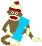 Sock Monkey Monogram Boy I