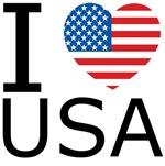 I <3 USA Flag