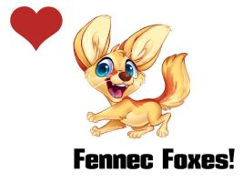 Love Fennec Foxes
