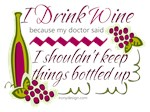 I Drink Wine Funny Quote