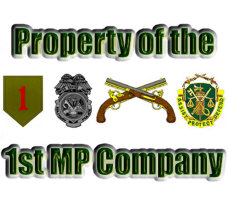 1st MP Company Items