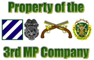 3rd MP Company Items