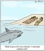 Sharks at the Beach