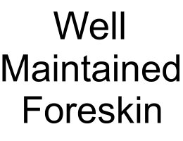 well maintained foreskin