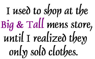 I used to shop...