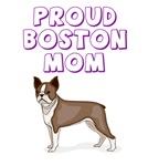 Proud Boston Terrier mom