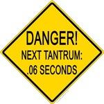Tantrum warning sign baby