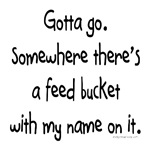 Feed bucket with my name on it