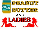 PEANUT BUTTER AND LADIES T SHIRTS