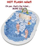 Hot Flash Tub of Ice