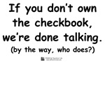 Who owns the checkbook?