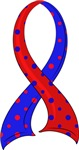 Polka Dot Ribbon Pulmonary Fibrosis T-Shirts