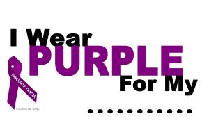 I Wear Purple 3 Pancreatic Cancer Shirts & Apparel