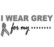 I Wear Grey 2 Brain Cancer T-Shirts & Merchandise