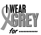 I Wear Grey 10 Brain Cancer T-Shirts